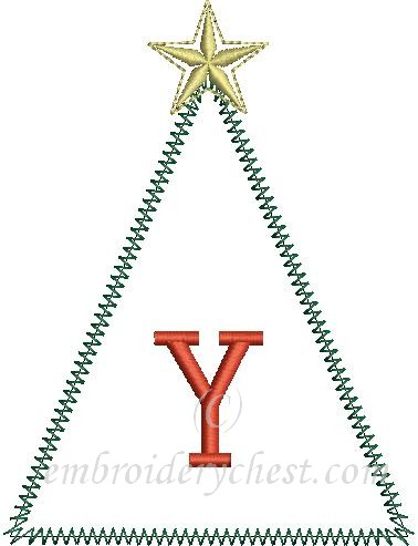 Merry Christmas Letter Y.Merry Christmas Tree Banner Letter Y