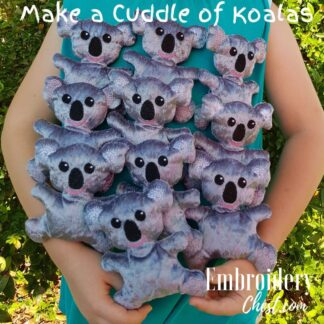 ITH In The Hoop Embroidery Chest Cuddle of Koalas Softie